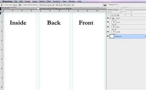 How To Set Up And Create A Tri Fold How To Make A Tri Fold Brochure In Photoshop It Still Works