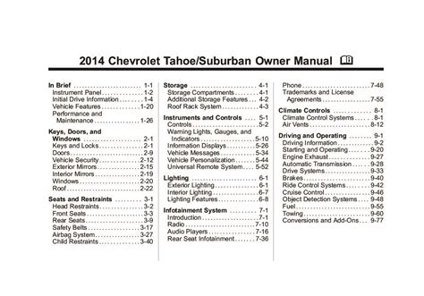 chevrolet tahoe suburban owners manual  give
