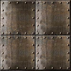 Rusty metal armour background with rivets | Stock Photo ...