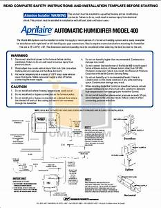 Download Free Pdf For Aprilaire 400 Humidifier Manual