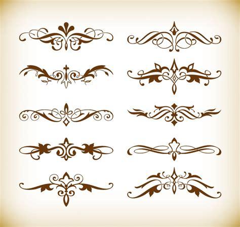 vector set  decorative elements   design