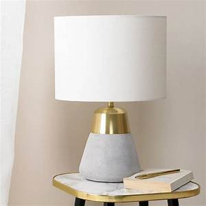 concrete and gold table lamp by primrose plum With table lamp not on the high street