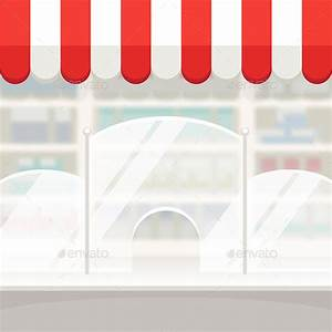 Facade of a Shop Store or Pharmacy Background by Voysla