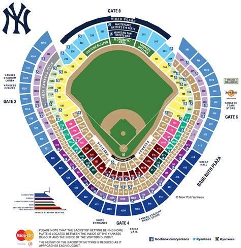 yankee stadium seating map mlbcom