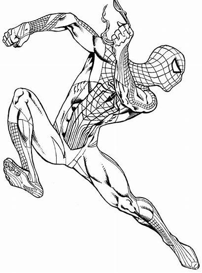 Spiderman Coloring Colorear Spider Miles Colorir Morales