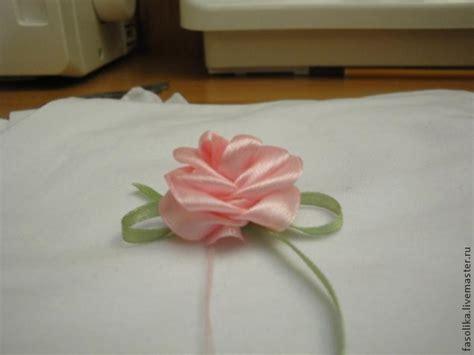 diy easy satin ribbon rosette   fork