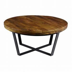 kosas kinda reclaimed wood round coffee table overstock With overstock reclaimed wood coffee table