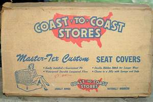 Sell 1949 Chrysler 2 Door Nos Seat Covers  New In Box