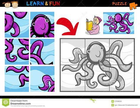 cartoon octopus puzzle game stock photo image
