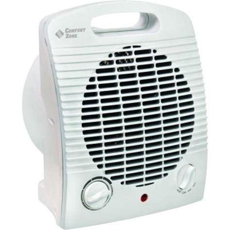 home depot heater fan comfort zone 1 500 watt fan electric portable heater