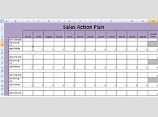 Get Sales Action Plan Template XLS Free Excel