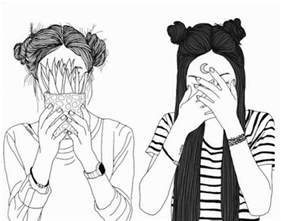 Best Friend Drawings Black and White