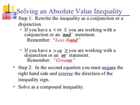 17 Solving Absolute Value Inequalities