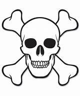 Skull Coloring Pages Crossbones Easy Pirate Drawings Printable Uniquecoloringpages sketch template