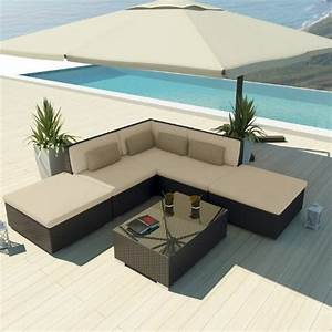 Uduka outdoor sectional patio furniture espresso brown for Uduka outdoor sectional patio furniture white wicker sofa set