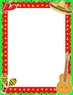 Cinco de Mayo Border | Mexican invitations, Clip art ...