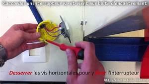 Cabler Un Va Et Vient : raccorder un interrupteur va et vient plac dans une bo te d 39 encastement youtube ~ Voncanada.com Idées de Décoration