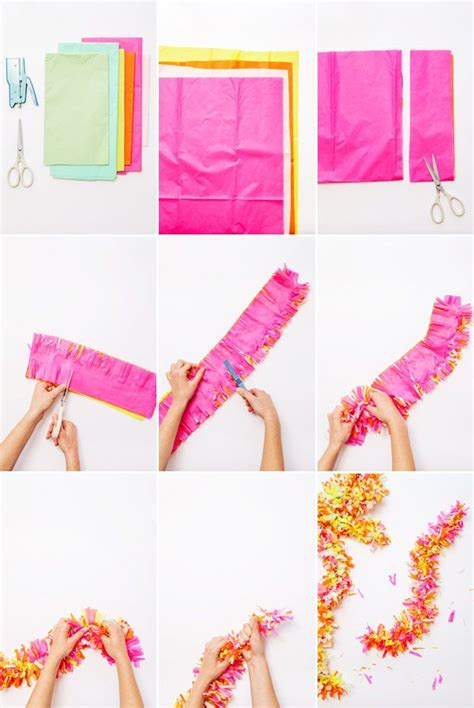 easy diy part decor ideas  garland   tissue paper