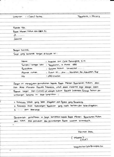 Lamaran Pekerjaan Cpns by Surat Lamaran Kerja Harus Tulis Tangan Ben