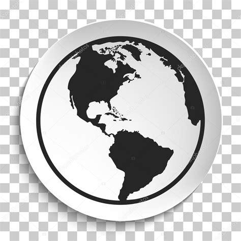 foto de Icône de Globe terrestre sur la plaque blanche Image