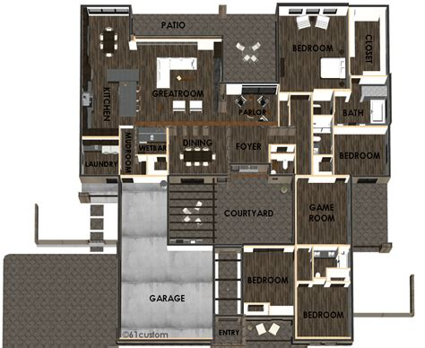 modern courtyard house plan custom contemporary modern house plans