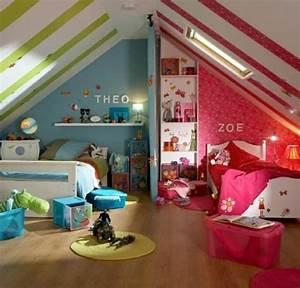 Kinderzimmer Für Zwei Mädchen : kinderzimmer dachschr ge einen privatraum erschaffen ~ Sanjose-hotels-ca.com Haus und Dekorationen