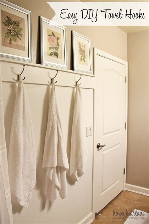 bathroom beadboard ideas easy diy towel hooks honeybear