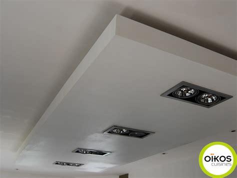 faux plafond cuisine spot plafonds de cuisine faux plafond avec spots alu