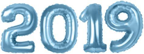 2019 Blue Baloons Png Clip Art Image