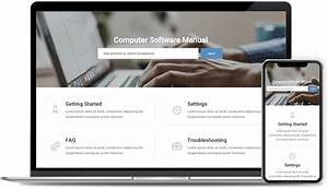 Create Computer Software Manual With 100  Free Templates