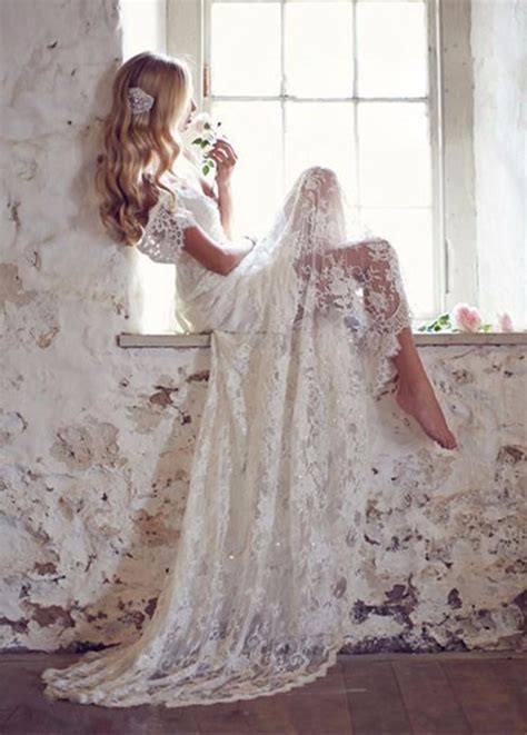 backless wedding dress lace se 34 vintage lace wedding dress with cap sleeves