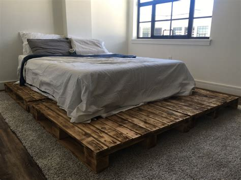 pallet platform bed   queen king full twin size
