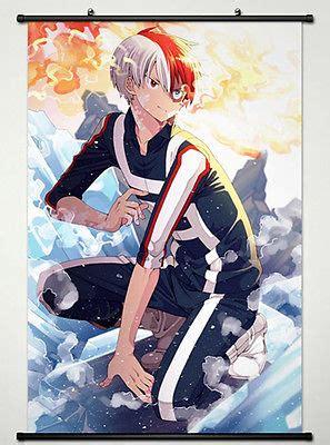 wall scroll poster  anime  hero academia shouto