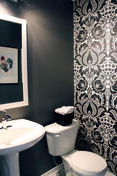 Accent Bathroom Powder Bold Paper Textured Idea