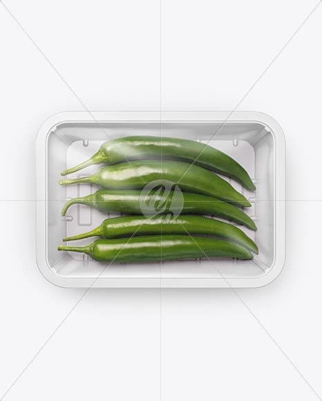 Free shopping bag mockups psd. Plastic Tray With Green Chili Peppers Mockup - Plastic ...