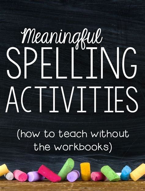 fun meaningful spelling activities check