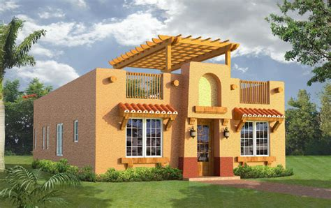 Southwest Style Home Plans by Belize Real Estate At Waterside 1204 Square Foot Model
