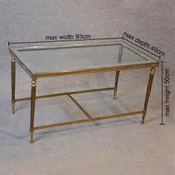 Antiques Atlas   Coffee Table Art Deco Brass Glass Top