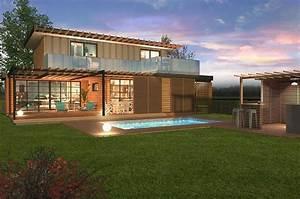 Maison Modulaire Bois : maison modulaire bois 110 m primo extenso ~ Melissatoandfro.com Idées de Décoration
