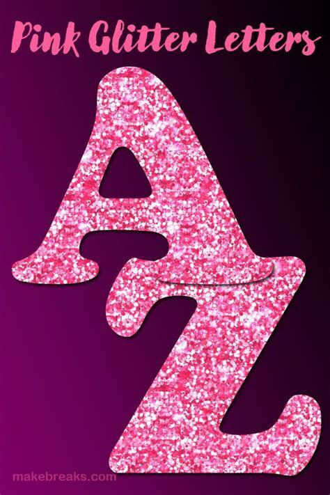 printable pink glitter letters   glitter