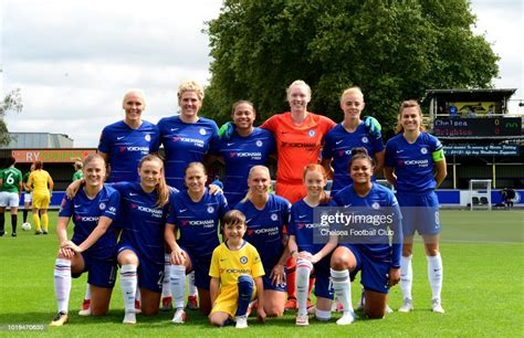 Chelsea FC Women starting 11 during a Continental Tyres ...
