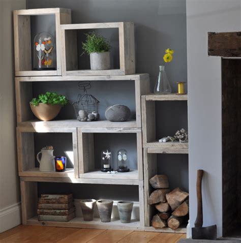 tv and storage unit reclaimed wood vintage box shelves mad about the house
