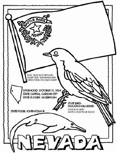 Nevada Crayola Coloring Pages State Flag States