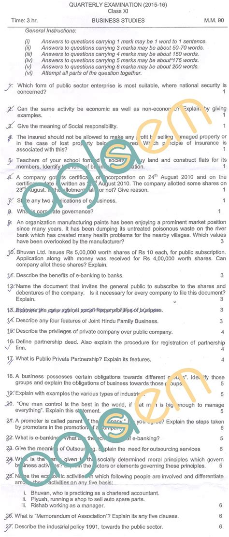 cbse class  quarterly question papers aglasem schools