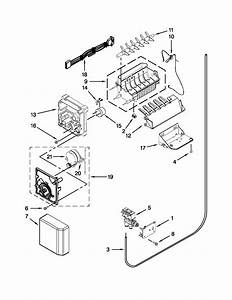 Ice Maker Diagram  U0026 Parts List For Model 10641162310