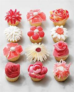 Candy Flower Cupcakes -- No Piping Required Martha Stewart