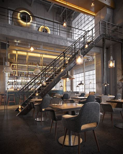 Bar Interior Design by The Best Vintage Industrial Bar And Restaurant Design
