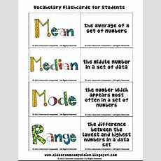 Classroom Compulsion Mean, Median, Mode, And Range Pack With Freebie