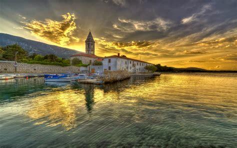 Croatian Coast Adriatic Sea Nerezine A Village On The ...