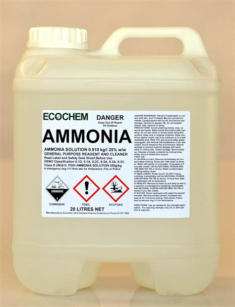 ammonium hydroxide ammonia 910 ammonium hydroxide solution ecochem cleaning products